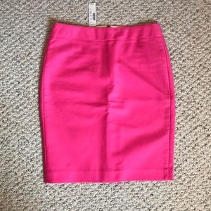 NWT Jcrew No. 2 double serge pencil skirt, pink